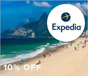 10% discount on pre-paid hotel bookings with Expedia.
