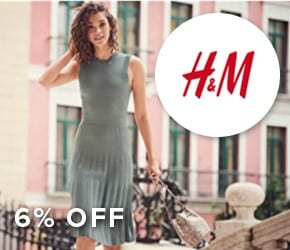 6% OFF H&M who offers a wide range of great quality fashion at the best price in a sustainable way.