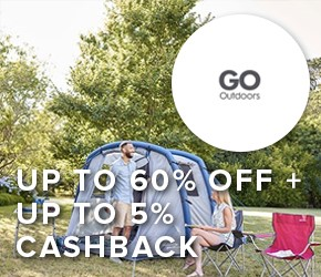 Up to 60% OFF + up to 5% cashback Go Outdoors