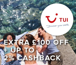 £100 off + up to 2% cashback Tui