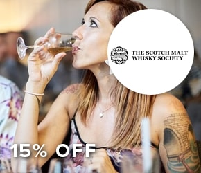 15% off memberships with The Scotch Whiskey Company