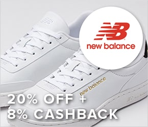 20% off + 8% cashback New Balance