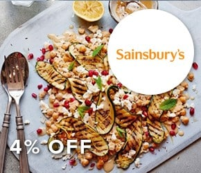 4% off Sainsbury's