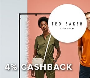 4% cashback with Ted Baker