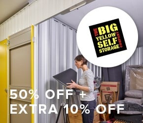 50% off + extra 10% off The Big Yellow Self Storage Company