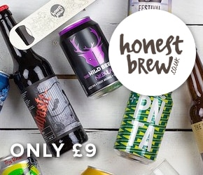 6 craft beers for £9 Honest Brew