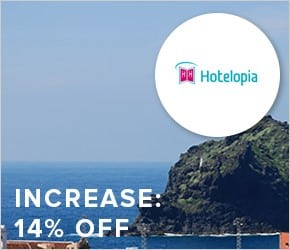 Increase - 14% off hotels with Hotelopia