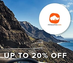 Up to 20% off Rhinocarhire.com