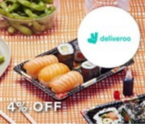 4% off Deliveroo