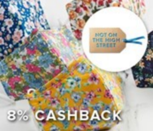 8% cashback Hot on the High Street