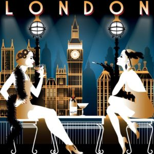 Two flappers in London 1920 discussion History of Life Insurance