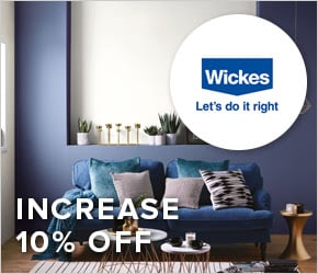 Increase 10% off Wickes